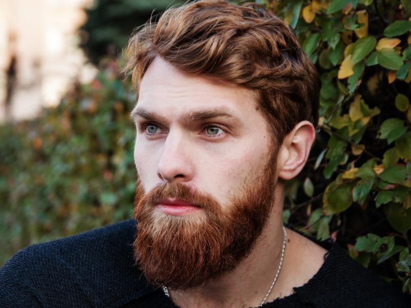 A guy with a beard
