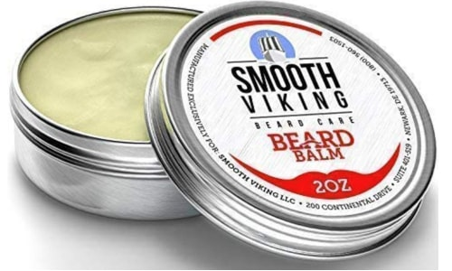 Picture of Smooth Viking beard balm tin with the lid open
