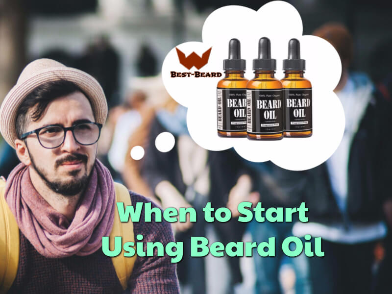 Featured image for the article about when to start using beard oil