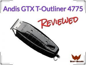 Featured image for the Andis GTX T-Outliner Review Article, showing the actual trimmer