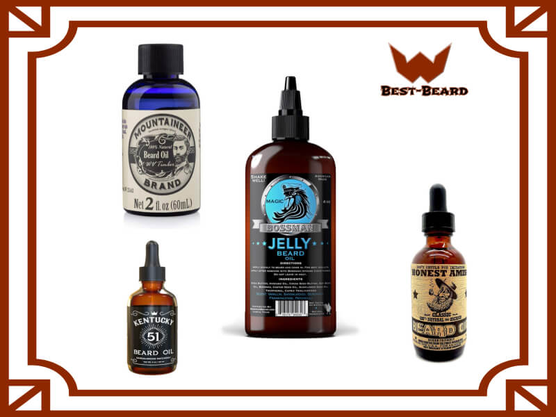 Image showing different beard oil products for consumers
