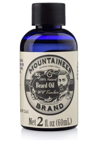 Product image of the beard oil made by Mountaineer Brand