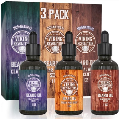 A product picture of the Viking Revolution Oil 3-Pack