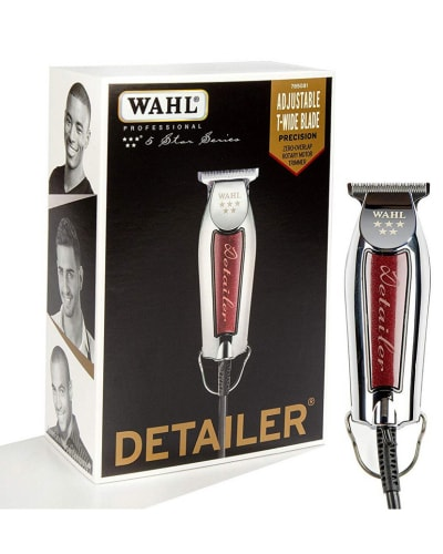 Image of the Wahl Detailer next to the box it comes in