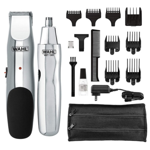 Product image of the Wahl Groomsman plus all the additional attachments and accessories