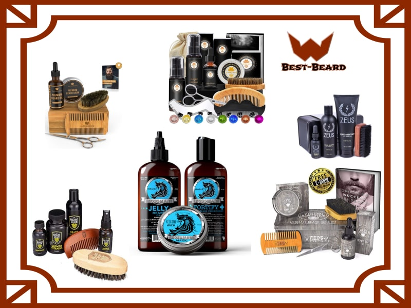 Picture of various beard kits
